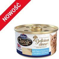 BUTCHER'S Classic Delicious Dinners z tuńczykiem i rybą morską - puszka 6x85g + 85g GRATIS!!!
