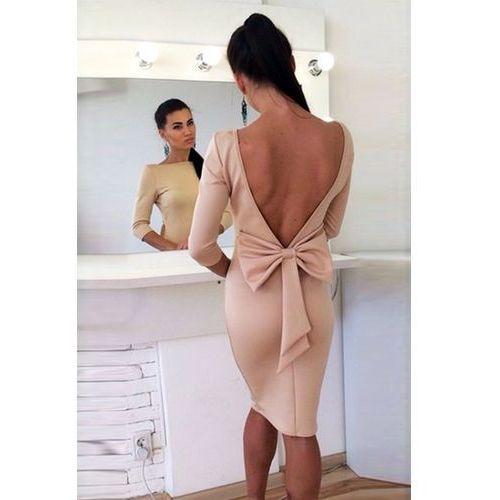 Sukienka ELVIRA BEIGE, kolor beżowy