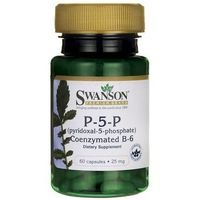 Swanson Witamina B-6 (B6) 20mg (P-5-P) 60 kaps.