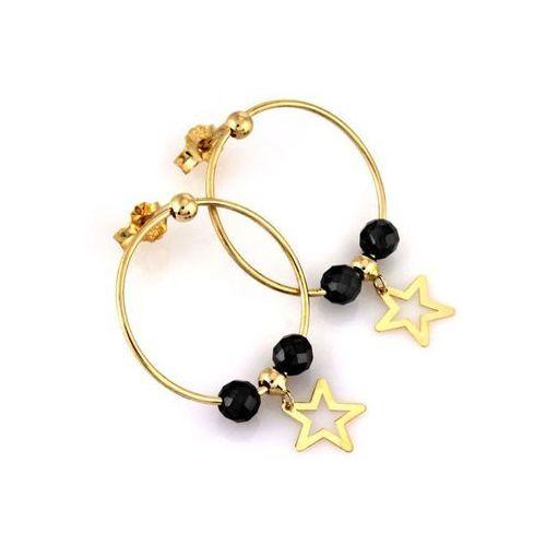 Kolczyki złote koła z gwiazdką - 1,65 g