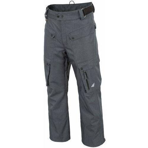 4f Spodnie narciarskie męskie spmn553 - jasny szary melanż