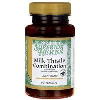 Swanson Milk Thistle Combination (Ostropest Plamisty + 5 ziół) 60 kapsułek (0087614141565)