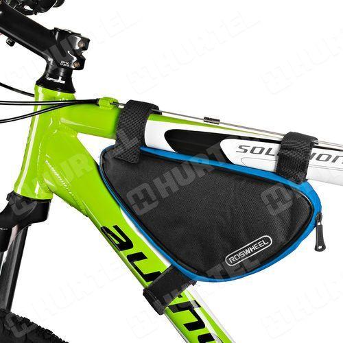 d1c09ac2ab91bf Roswheel sakwa torba na rower pod ramę czarno-niebieska - niebieski ||czarny