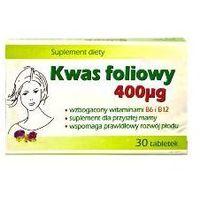 Tabletki KWAS FOLIOWY 400mcg x 30 tabletek