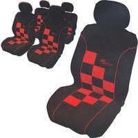 Carpoint pokrowce na siedzenia racing, szachownica czerwono-czarna (8711293067244)