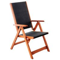Krzesło ogrodowe drewniane meranti black home&garden (328945) marki Home garden