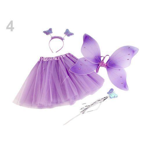 Strój motyl spódniczka, skrzydła, opaska, różdżka