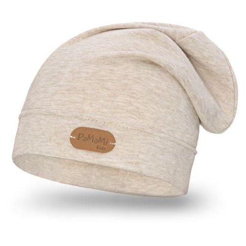 Wiosenna czapka dziewczęca PaMaMi - Beżowy - Beżowy (5902934045988)