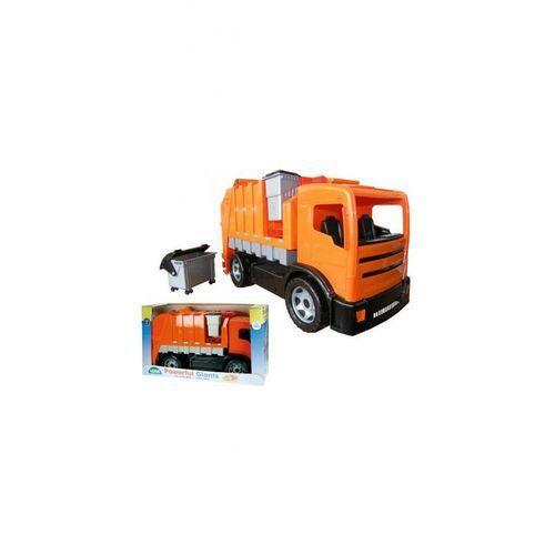 Śmieciarka lena pomarańczowa 2 osie w kartonie