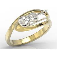 Pierścionek w rozmiarze 14 w kształcie skrzypiec z cyrkoniami bp-1302zb marki Węc - twój jubiler