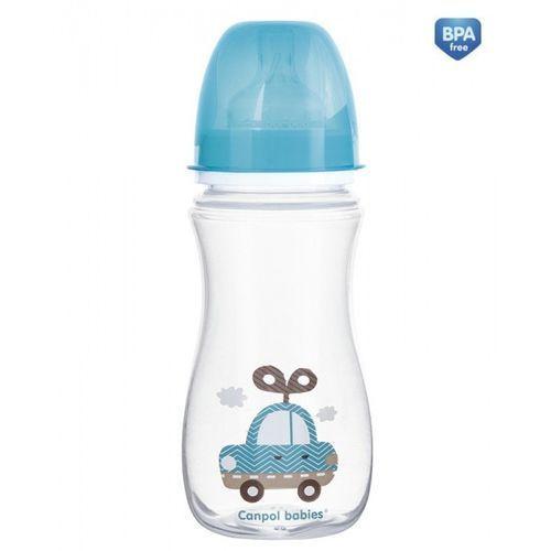Canpol antykolkowa butelka szerokootworowa easystart toys 300 ml: kolor - niebieski Canpol babies