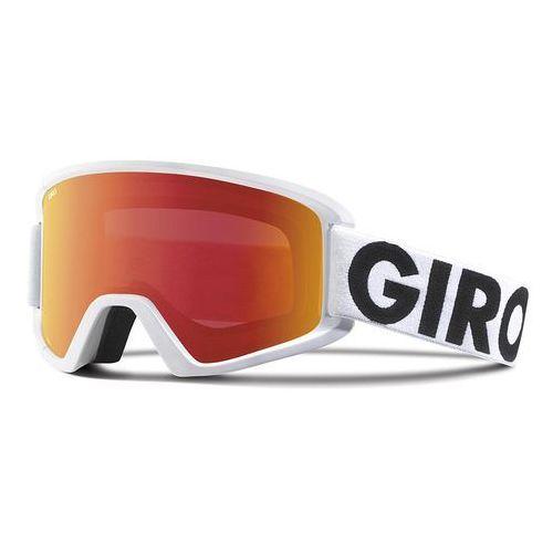 Giro gogle narciarskie Semi White Futura/Amber Scarlet + Yellow (2 soczewki)