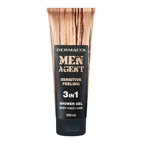 Men agent sensitive feeling 3in1 żel pod prysznic 250 ml dla mężczyzn Dermacol - Godna uwagi przecena