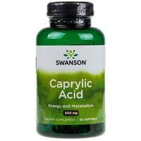 Kapsułki Swanson Ultra Kwas Kaprylowy (Caprylic Acid) 600mg - 60 kapsułek