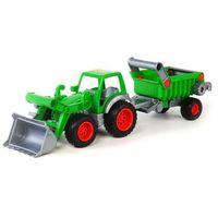 Wader-polesie Traktor ładowarka z naczepą (4810344037756)