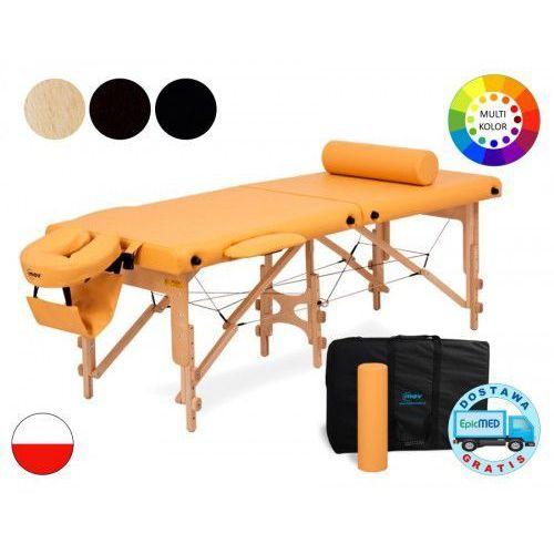 Mov Składany stół do masażu premium ultra drewniany z regulacją wysokości