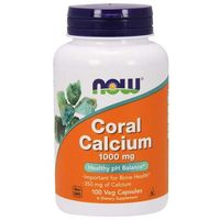 Minerały NOW Foods Coral Calcium 1000mg 100 vkaps Najlepszy produkt