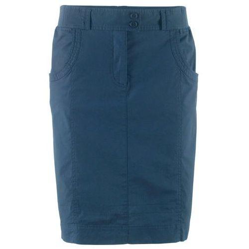 Spódnica ze stretchem z elastycznymi wstawkami w talii bonprix ciemnoniebieski, kolor niebieski