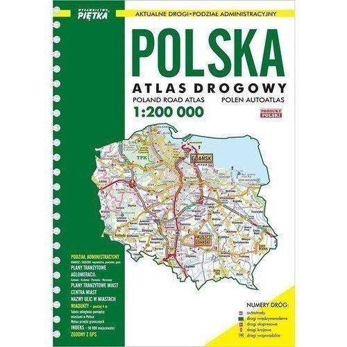 Atlas Samochodowy Polski 1:200 - Wydawnictwo Piętka (8387728861)