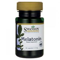 Swanson Melatonina - 3000mcg (3mg) - (60 kap) (0087614014982)