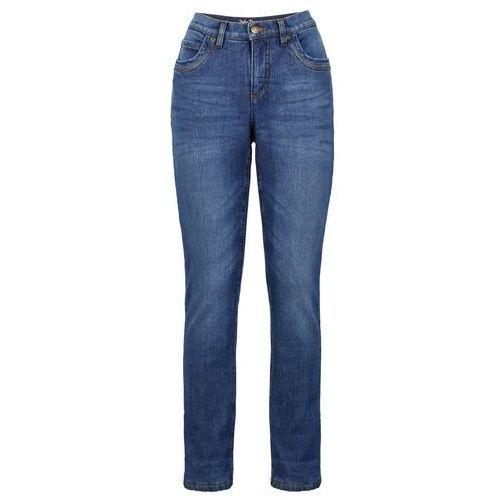 Dżinsy ocieplane ze stretchem STRAIGHT bonprix niebieski, jeansy