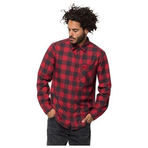 Męska koszula RED RIVER SHIRT red lacquer checks - M (4060477288895)
