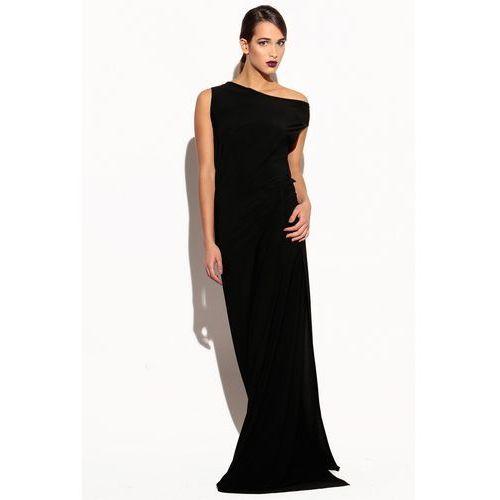 03e586ab71 Czarna sukienka z szarfą (CAHA) opinie + recenzje - ceny w AlleCeny.pl