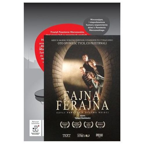 Monika kowaleczko-szumowska Pakiet fajna ferajna / fajna ferajna powstanie oczyma dzieci książka + film (9788375516258)