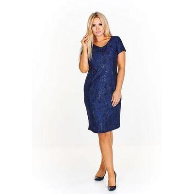0fd60458e8 Elegancka sukienka dla matki Panny młodej z połyskującą koronką