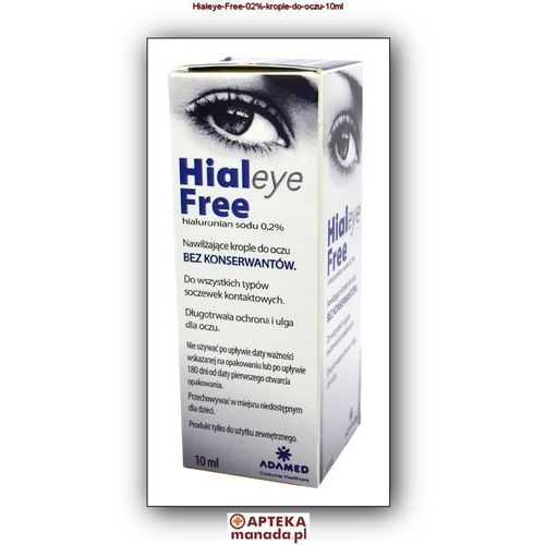 Adamed Hialeye free 0,2% krople do oczu 10 ml