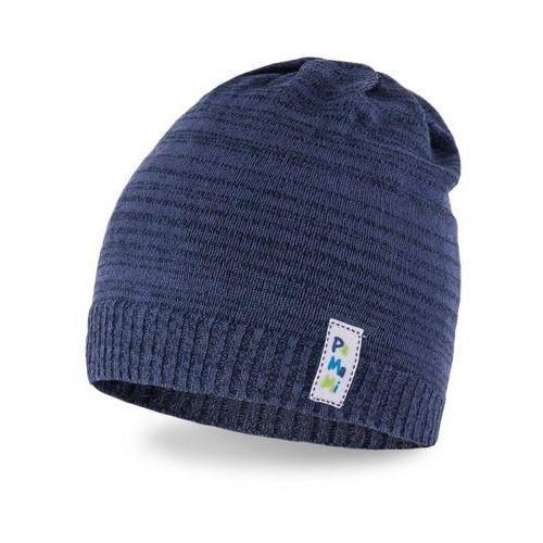 Wiosenna czapka chłopięca PaMaMi - Granatowy - Granatowy, kolor niebieski