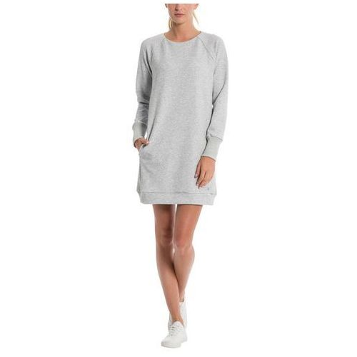 Sukienka BENCH - Bonded Sweat Dress Summer Grey Marl (MA1026), kolor szary