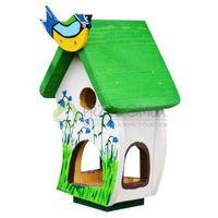 Karmnik dla ptaków ręcznie malowany K10 zielony