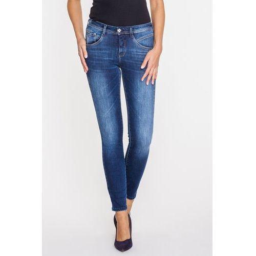 Ciemnoniebieskie jeans z modelującym przeszyciem - , Rj rocks jeans
