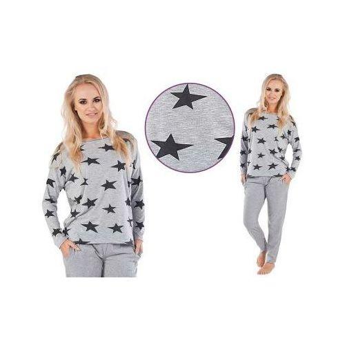 Piżama damska STAR: szary, kolor szary