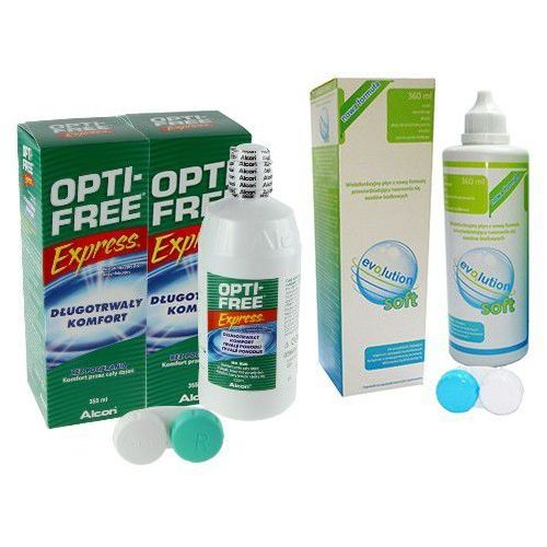 Zestaw płyn OPTI-FREE Express 2x 355ml + evo2lution soft 360ml