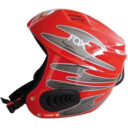 Kask narciarski fox czerwony (rozmiar s) + Axer sport