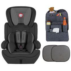 Fotelik samochodowy LEVI PLUS + Gratisy, kolor czarny