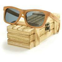 Drewniane okulary przeciwsłoneczne Niwatch Lupus Grey