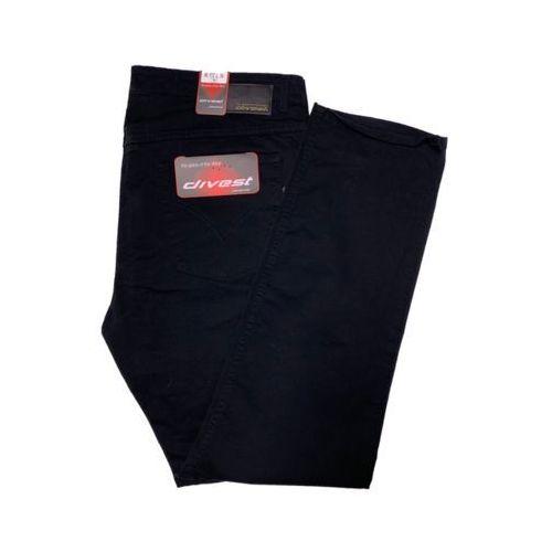 spodnie długie materiałowe czarne model 599 122/34 czarny bawełna / lycra, Divest