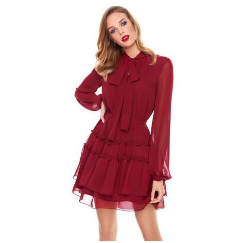 Sukienka Roma w kolorze bordowym, kolor czerwony