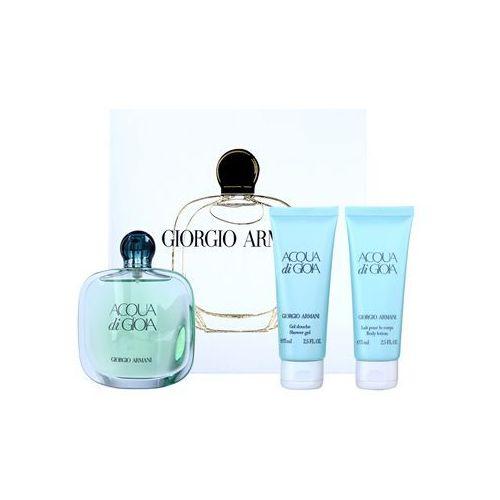 Armani acqua di gioia woda perfumowana 100 ml + żel pod prysznic 75 ml + mleczko do ciała 75 ml (3614270998478)