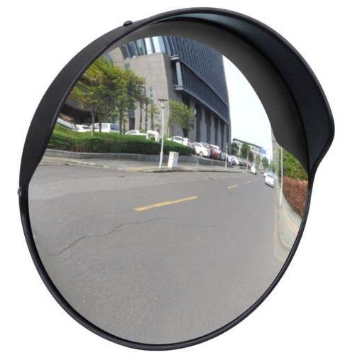 Vidaxl  convex lustro drogowe 30 cm czarny plastik
