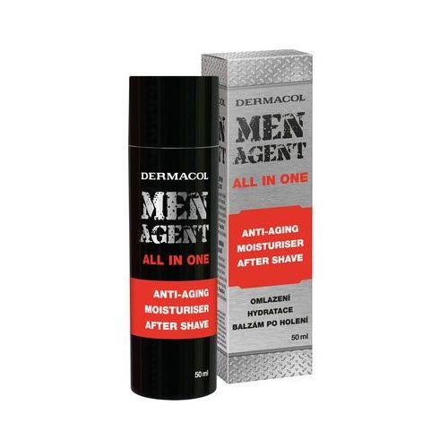 Dermacol Men Agent Anti-Aging Moisturiser After Shave All In One balsam po goleniu 50 ml dla mężczyzn, 80018 - Bombowy rabat