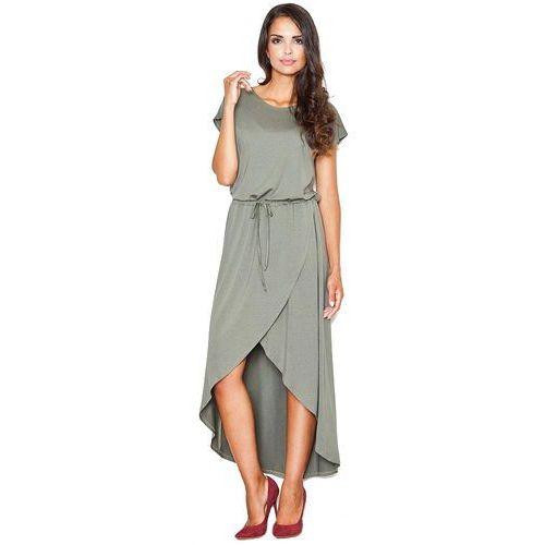 7f44c020ab Beżowa Bawełniana Sukienka Midi bez Rękawów