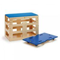 Skrzynia do ćwiczeń sportowych z nadstawką - zabawki dla dzieci