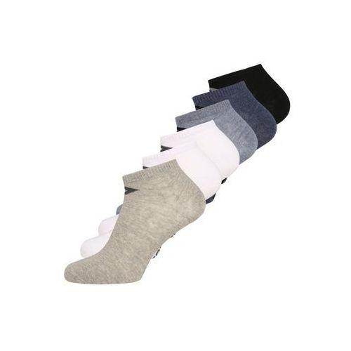 Converse BASIC 6 PACK Skarpety mid grey melange/white/grey/black