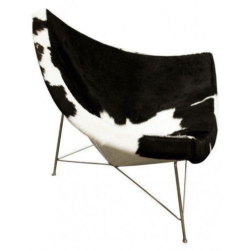 Fotel kokos skóra pony insp. projektem coconut chair marki George nelson