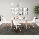 vidaXL Zestaw mebli do jadalni 5 elementów biały stół i krzesła (8718475524434)