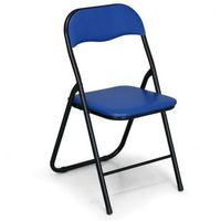 B2b partner Składane krzesła konferencyjne briefing 4+2 gratis, niebieske